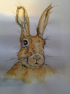 Bunnies, My Arts, Painting, Animals, Animales, Animaux, Painting Art, Paintings, Animal