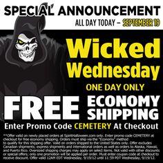 Wednesday coupon for Spirit Halloween Halloween Candy, Spirit Halloween, Halloween Decorations, Halloween Halloween, One Day Only, Fright Night, Wednesday, Coupon, Memes