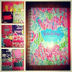 old Lilly planner made into coasters! Love this - they are so pretty Diy Home Crafts, Cute Crafts, Diy Craft Projects, Arts And Crafts, Craft Ideas, Coaster Furniture, Craft Organization, Crafty Craft, Artsy Fartsy