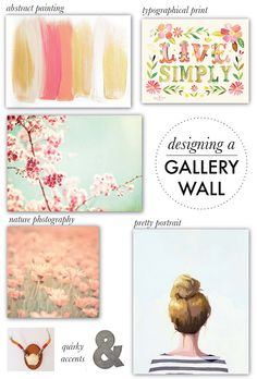 designing a gallery wall {talking about incorporating different elements into a gallery wall}