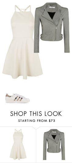 """casual sweet heart"" by roseryan13 on Polyvore featuring Topshop, IRO and adidas Originals"
