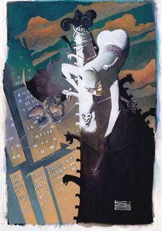 Batman and Catwoman illustrated by Eduardo Risso Batgirl, Catwoman Y Batman, Batman 1, Superman, Bob Kane, Dc Comics Art, Marvel Dc Comics, Book Cover Art, Comic Book Covers