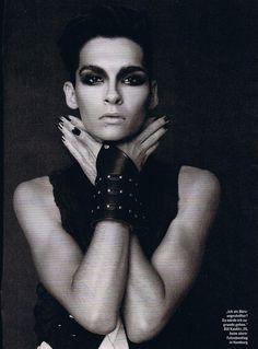 Bill Kaulitz | Stern Magazine .Makeup for wolf