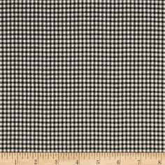 Madrid Black check cotton fabric by the yard by MaterialMadness
