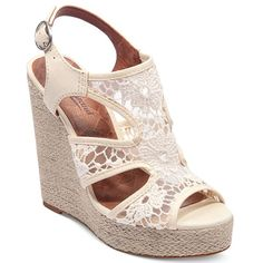 Lucky Brand Riedel Lace Platforms - Go for dual comfort and style in these adorable lace wedges