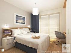 Projekt mieszkania w Wilanowie, pow. 52 m2 - Średnia sypialnia małżeńska, styl nowoczesny - zdjęcie od 4ma projekt