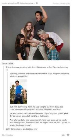 John barrowman = awesomest person ever