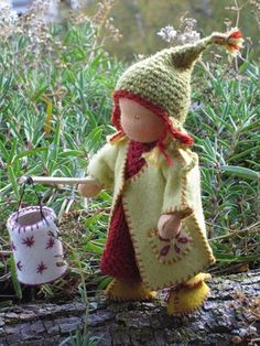 yarn and felt doll