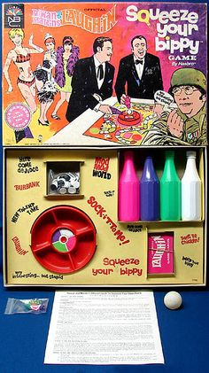 Rowan & Martin's Laugh-In / Squeeze Your Bippy Game by Hasbro (1968)