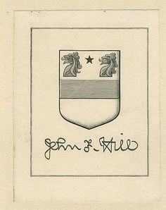 Ex Libris Bookplate for John F Hill by Sidney L. Smith 1911 in Art, Art from Dealers & Resellers, Prints   eBay