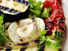Couscous-salat med grillede grønnsaker