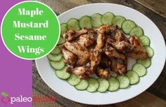 Maple Mustard Sesame Wings