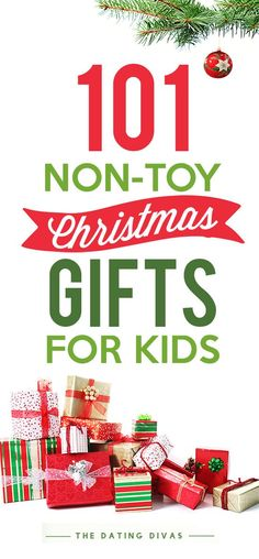 The best list of thoughtful and unique Christmas gift ideas besides toys for kids of all ages! Presents that they'll still love but won't cause added clutter! Ideas for kids to READ, things they NEED, items to WEAR and things they WANT!