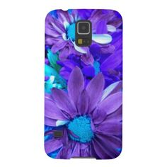 Purple N Turquoise Bouquet Samsung Galaxy S5 Case