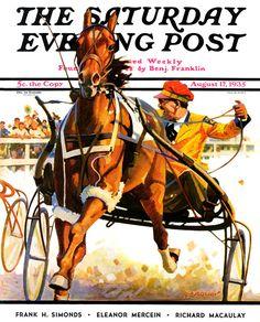 The Saturday Evening Post   August 17, 1935 #Harnessracing #DarkHorseBet