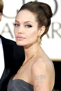 Angelina Jolie's cateye Getty Images - HarpersBAZAAR.com