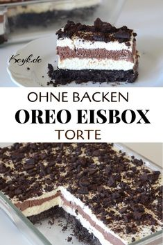 Oreo Torte ohne Backen – Eisbox Torte – No Bake The recipe with video instructions for this No Bake Oreo cake can be found on Keyk. No Bake Oreo Cake, Oreo Icebox Cake, Icebox Cake Recipes, Oreo Dirt Cake, Oreo Cookie Cake, Cookies And Cream Cake, Cookie Pops, Oreo Cheesecake, Pumpkin Cheesecake