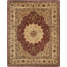 Safavieh Handmade Persian Legend Ivory/ Rust Wool Transitional Rug (6' x 9') $407 Safavieh's Persian Legend collection is inspired by timeless designs crafted with the softest wool available.
