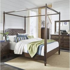 Coronado Canopy Bed (Sable) Progressive Furniture in Beds. Create your own retreat with Coronados Bedroom Collection by Progressive Furniture relaxing casual style. A woven rattan complements the natural look of the mahogany veneers. Transitional Beds, Bedroom Set, Canopy Bedroom, Furniture, Canopy Bedroom Sets, Bed, Home, Bedroom Furniture Brands, Upholstered Platform Bed
