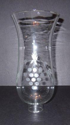 Ten inch hurricane lamp shade grape cut