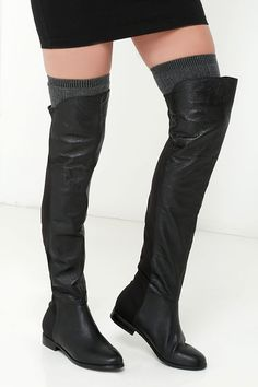 296483df379 Have to Half It Black Over the Knee Boots