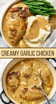 This Garlic Chicken has the most flavorul, creamy sauce! An easy chicken recipe that tastes like its from a restaurant. If you want to impress your family then make them this easy dinner!