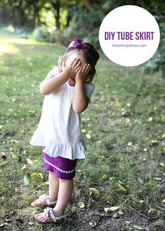 DIY tube skirt in 3 easy steps! Perfect for a beginner! #sewing #tutorials