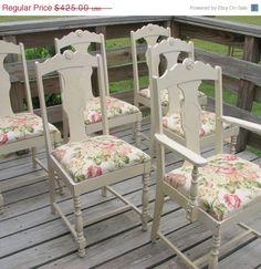 AUF Verkauf 6 Französisch Stühle schäbig und von TheShabbyHome