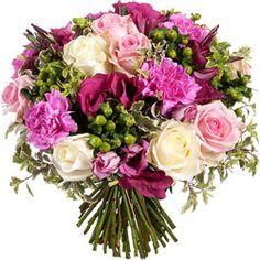 Superbe bouquet romantique aux tons pastel by mon jardin pi - Photos bouquets de fleurs ...