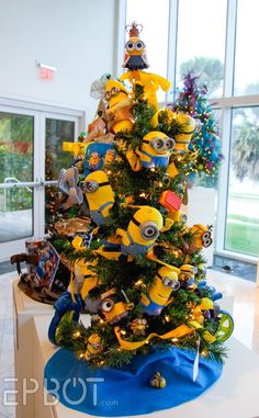 Minion tree from EPBOT: Festival of Trees 2015, AKA, The Best Christmas Tree Ideas To Steal!
