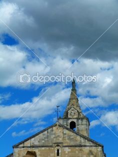 Detail of an ancient church in Arles, Provence, France
