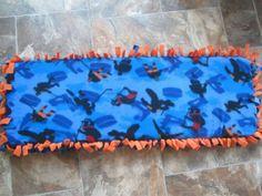 NEW-Bleacher-Seat-Bench-Cushion-Hockey-Fan-Mom-Blue-with-Orange-back