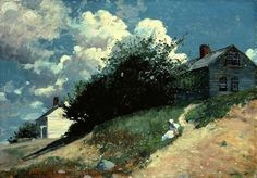 Winslow Homer (American, 1836–1910): Houses on a Hill, 1879
