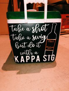 kappa sigma cooler, tito's cooler Painted Fraternity Coolers, Fraternity Paddles, Sorority Paddles, Frat Coolers, Sorority Crafts, Sorority Recruitment, Sorority Life, Sorority Canvas, Alpha Sigma Alpha