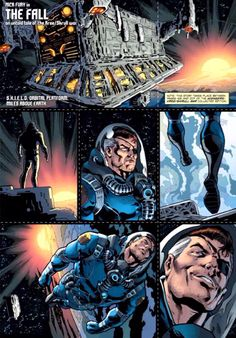Nick Fury, Agent of SHIELD, in space - Marvel Comics