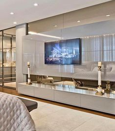 56 cool and fun bedroom tv wall design ideas 1