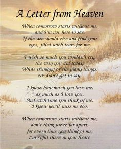 Letters From Heaven Quotes. QuotesGram