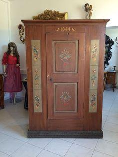 authentischer Kleiderschrank Bauernschrank Schrank Bauernkasten bemalt Nr. 8550