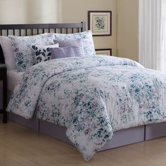 Ellison Petra 7 Piece Comforter Set with Bed Skirt and 3 Decorative Accent Pillows