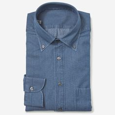 Pick Of The Day: The Armoury Denim Button Down Shirt - http://www.mnswr.com/pick-day-armoury-denim-button-shirt/ Menswear style inspiration    #menswear #mensfashion #mensstyle #style #sprezzatura #sprezza #mentrend #menwithstyle #gentlemen #bespoke #mnswr #sartorial #mens #dapper