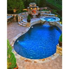 Pool Awesome pools ❤ liked on Polyvore featuring home and rooms