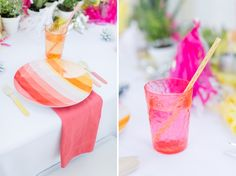 Eclectic Coral, Pink and Yellow Wedding Ideas