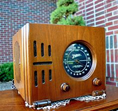 Serviced Antique Vintage Zenith Cube 5R216 Wood Deco Tube Radio Works Perfect | eBay