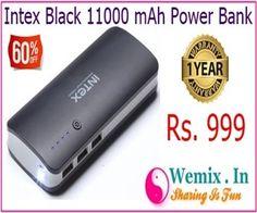 Intex Black 11000 mAh Power Bank Rs 999