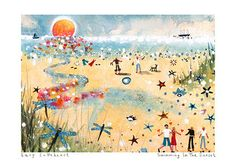 Art Prints | Swimming In The Sunset | Lucy Loveheart