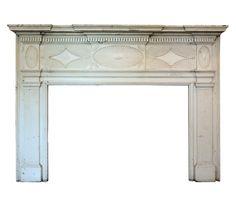Striking Antique Carved Federal Fireplace Mantel, 1823 - Preservation Station, Nashville, TN