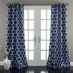 These Lush Decor Chainlink Room Darkening Window Curtains are very energy efficient window curtains!  Available in a pair, these panels have grommets for quick installation.