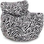 Zebra Print Bean Bag Chair, comfortable and stylish college dorm room seating
