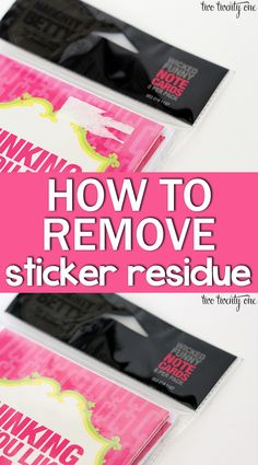 Great tip for removing that pesky price tag sticker residue!