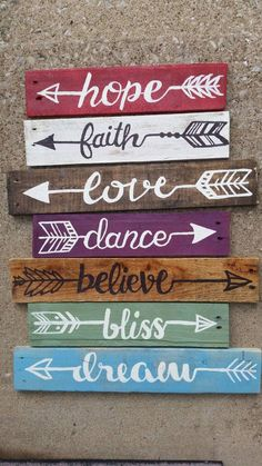 3 Reclaimed Wood Arrow sign Rustic Salvaged Arrows by UpcycleCharm